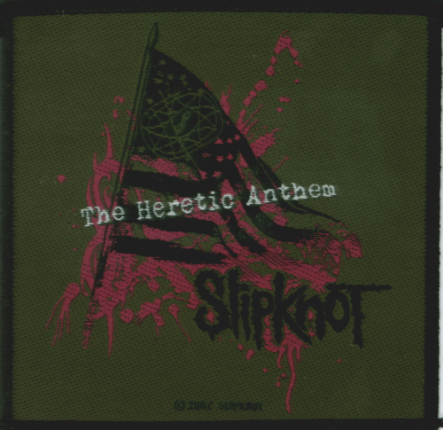Slipknot - Heretic Anthem officially licensed Woven Sew on Patch.