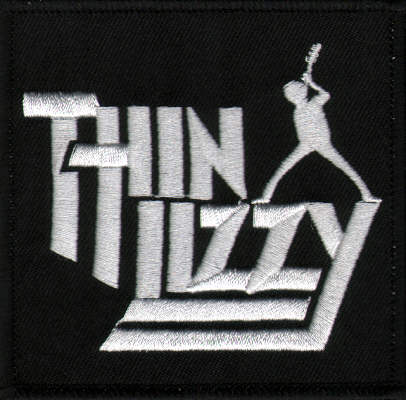 Thin Lizzy - Embossed Logo officially licensed Woven Sew on Patch.