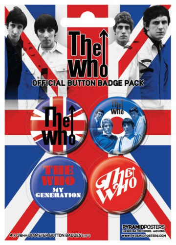 The Who -Official Badge Pack.