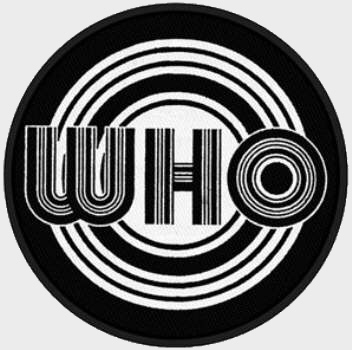 The Who - Circles Logo officially licensed Woven Sew on Patch.