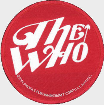 The Who - White on Red Logo officially licensed Woven Sew on Patch.