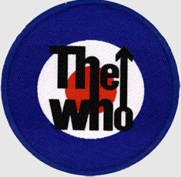 The Who - Mod Target officially licensed Woven Sew on Patch.