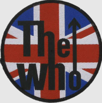 The Who - Union Jack Logo officially licensed Woven Sew on Patch.