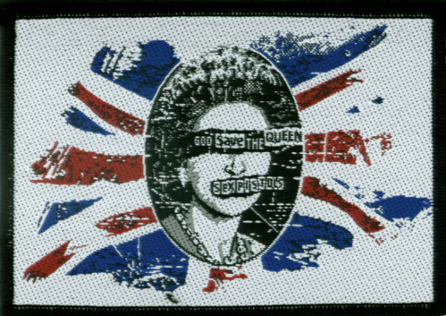 Sex Pistols - Faded God save The Queen Oficially licensed Woven Sew on Patch.