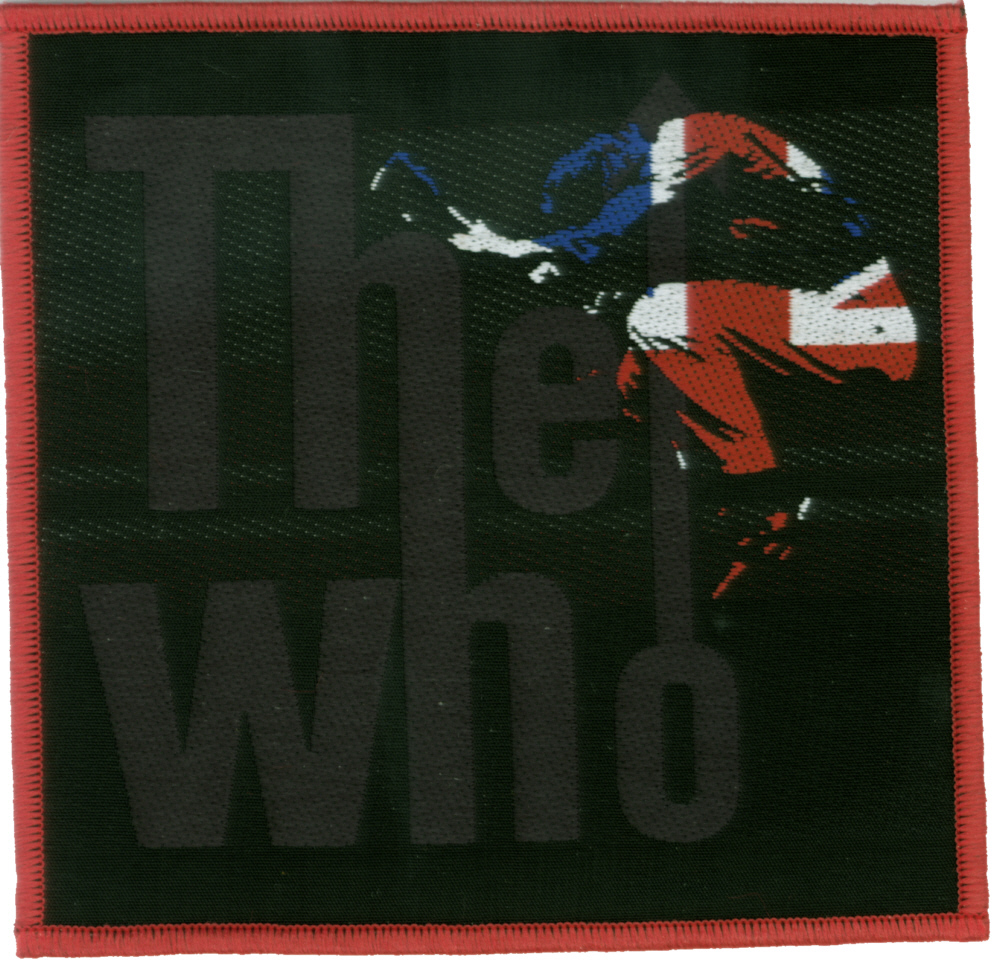 The Who - Pete Townshend Union Jack officially licensed Woven Sew on Patch.